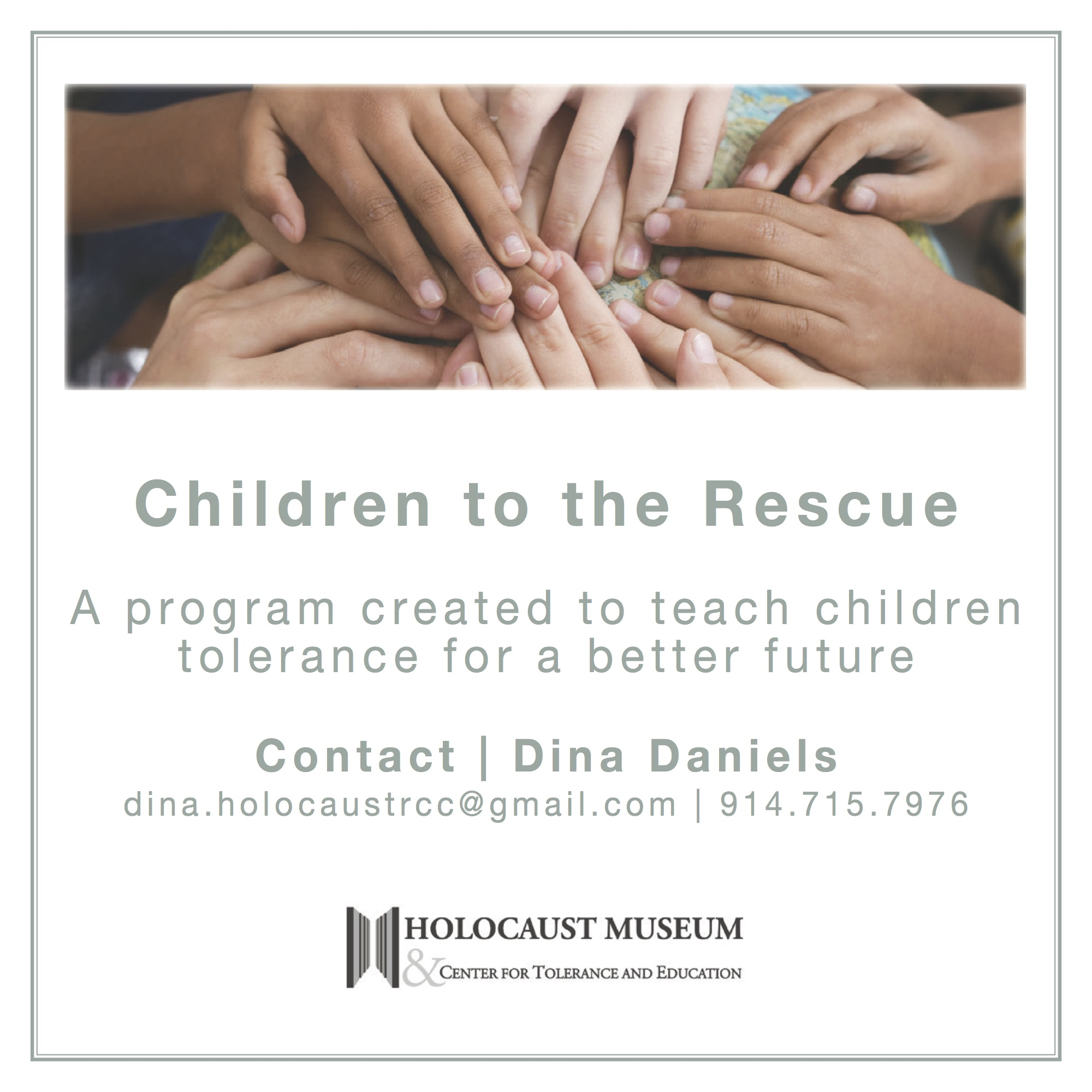 Children to the Rescue event flyer