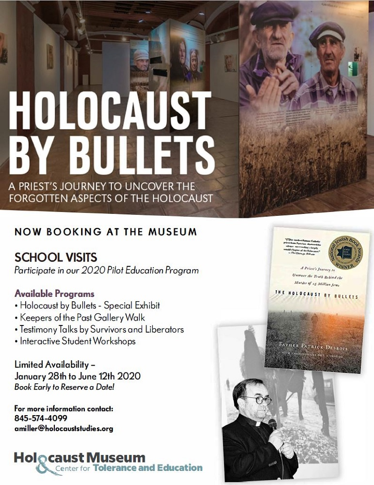Holocaust by Bullets Education flyer