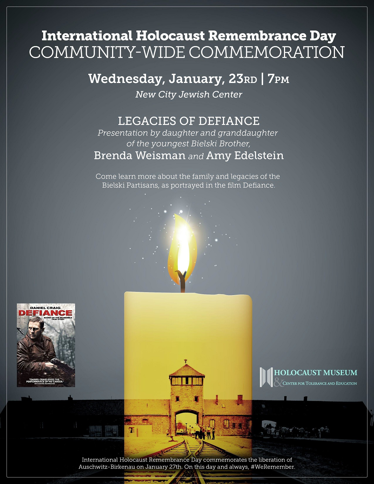International Holocaust Remembrance Day flyer